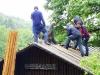 Arbeiten an der Schutzhütte